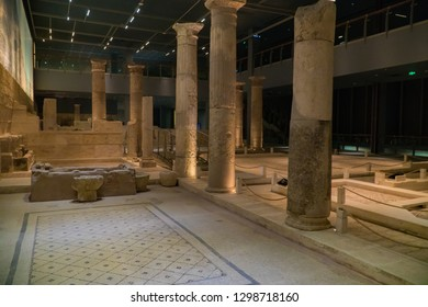 GAZIANTEP, TURKEY - November 2018. People are visiting Zeugma Mosaic Museum in Gaziantep City of Turkey