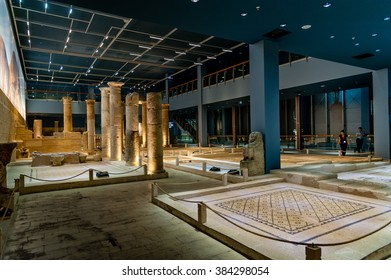 GAZIANTEP, TURKEY - SEPTEMBER 25, 2012: The Zeugma Mosaic Museum in Gaziantep Turkey.