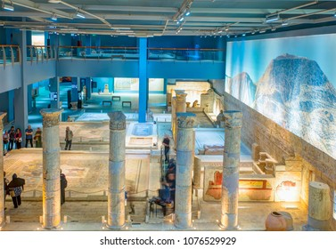 GAZIANTEP (ZEUGMA), TURKEY - APRIL 20, 2018: Zeugma Mosaic Museum