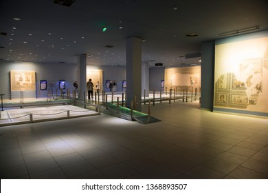 Gaziantep/TURKEY-April 9 2019: Zeugma Mosaic Museum.