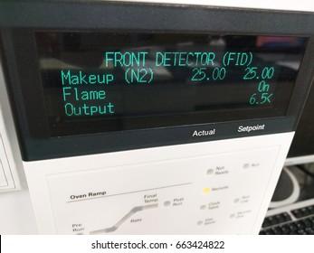 GC LC HPLC System test display