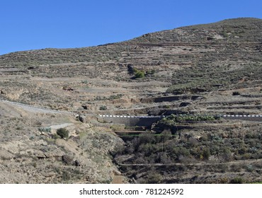 The GC-21 heading north out of Artenara winds through the Gran Canarian mountainside.