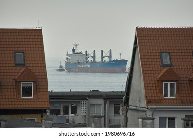 GDANSK, POLAND - 22.05. MAY, 20121: In the morning. The vessel. Baltic Sea. Gulf of Gdansk.