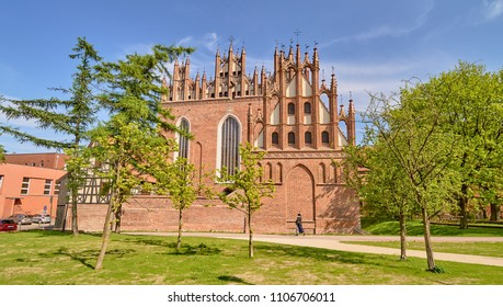 GDANSK, POLAND - APRIL 29, 2018: National Museum - Old Art Department on 29 April 2018 in Gdansk, Poland. The museum is housed in a historic, former Franciscan monastery from the 15th century.