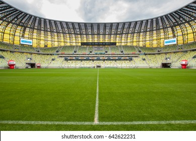 GDANSK, POLAND - August 6, 2011: Open day of Gdansk football stadium