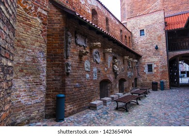 Gdansk, Poland - February 05, 2019: Torture House and Prison Tower in Main Town. Gdansk, Poland