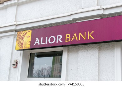 Gdansk, Poland - January 14, 2018: Logo and sign of Alior Bank in Gdansk.