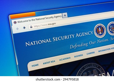 GDANSK, POLAND - JULY 09, 2015. National Security Agency homepage on computer screen.