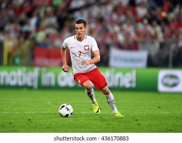 GDANSK, POLAND - JUNE 01, 2015: EURO 2016 European International Friendly Game Poland - Netherland o/p Arkadiusz Milik