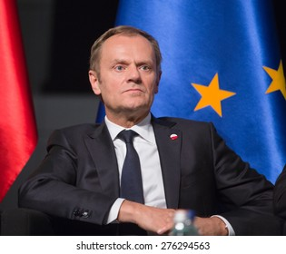 GDANSK, POLAND - May 07, 2015: President of the European Council, Donald Tusk during events to mark the 70th anniversary of the victory over Nazism in Europe