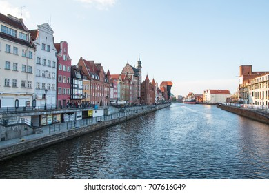 GDANSK, POLAND, MAY 16, 2017: Scenic view of the Old Town of Gdansk in Poland