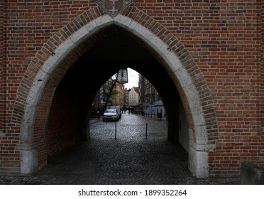 Gdansk, Poland - October 26, 2018: people are walking by the old town in Gdansk