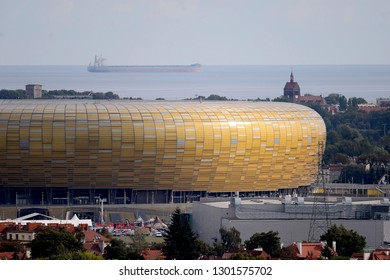 Gdansk, Poland - September 09, 2018: City panorama - stadium