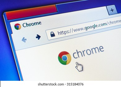 GDANSK, POLAND - SEPTEMBER 10, 2015. Google Chrome homepage on computer screen. Google Chrome is a freeware web browser developed by Google.