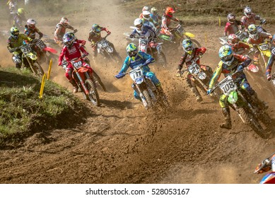 GDANSK, POLAND - SEPTEMBER 11 : undefined rider on Polish Motocross Championship Poland, Gdansk 11 Septemeber 2016