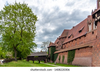 Gdansk, Pomerania Province / Poland - 05/08/2019. Castle of the Teutonic Order in Malbork is a 13th-century castle located near the town of Malbork, Poland. It is the largest castle in the world.