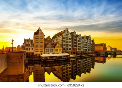 Gdansk at sunrise - The historic city in Poland.