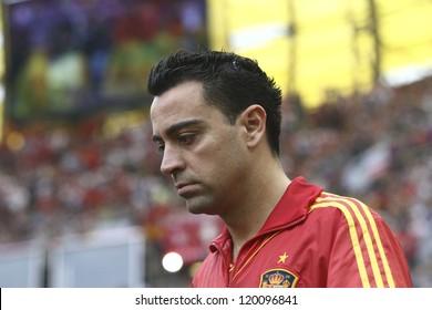 GDANSK,POLAND-JUNE 10,2012:Spanish midfielder Xavier Hernandez Creus during the game against Italy on June 10 2012 in Gdansk