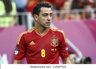 GDANSK,POLAND-JUNE 10:Spanish midfielder Xavier Hernandez Creus during the game against Italy on June 10 2012 in Gdansk