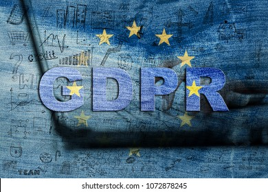 GDPR concept. General Data Protection Regulation. New EU law from 2018.