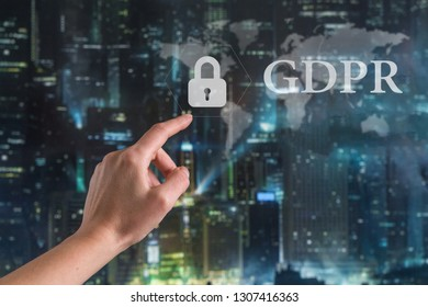GDPR. Data Protection Regulation. Cyber security and privacy.Personal data protection,