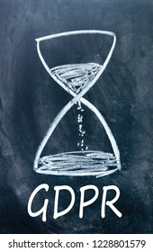 GDPR  and hourglass sign