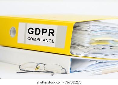 GDPR office folder
