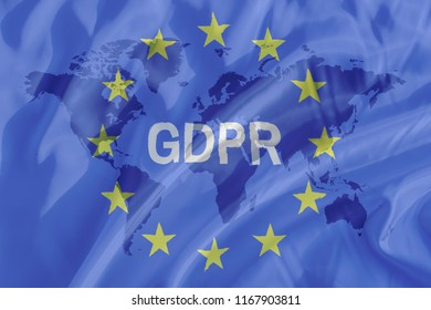 GDPR Privacy Policy on a flag