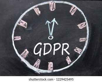 GDPR sign and clock sign