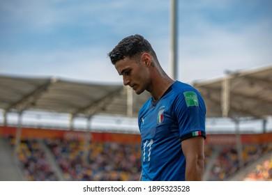Gdynia, POLAND - 02 June, 2019:  FIFA U-20 World Cup Poland 2019, Italy - Poland o.p Gianluca Scamacca