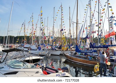 GDYNIA, POLAND - JULY 4: Sailboats at the marina during the Tall Ships' Races Baltic 2009 held July 4, 2009 in Gdynia, Poland.