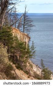 Gdynia, Poland. Orlowo high cliff over the Gdansk Bay, Baltic Sea