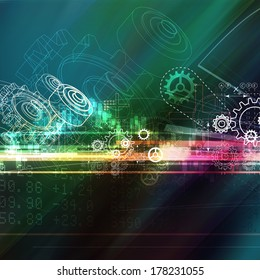 Gear Abstract Background - Stock Image