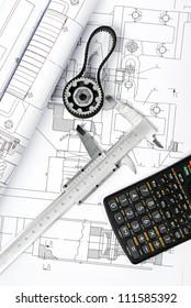 gear and caliper blueprint