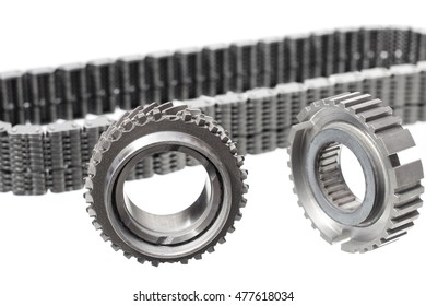 gear chain car on a light background