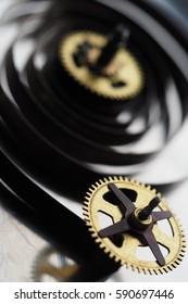 Gear Clock/Details of gears of a mechanical watch