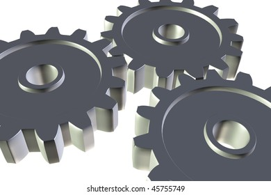 gear cogs isolated on white background