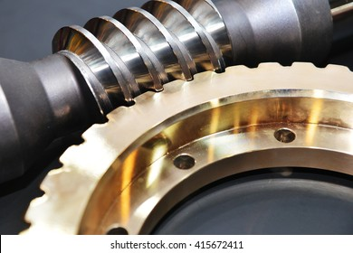 gear connection. Metal cog tooth wheel and rack