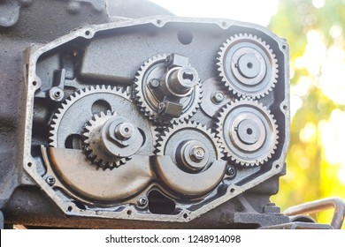 Gear mechanism of the two-wheeled tractors.