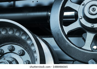 gear metal machine technology detail background