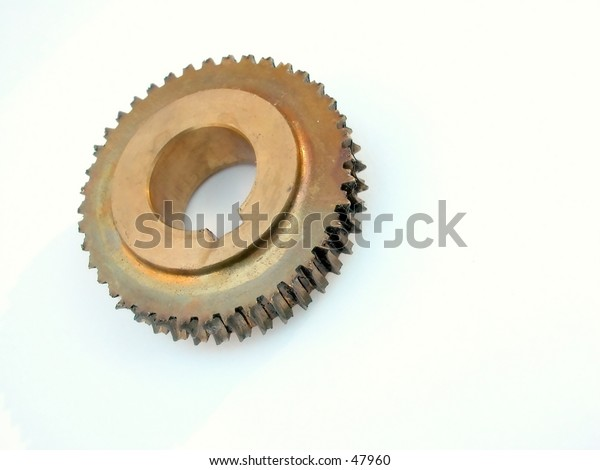 gear part #2 focus in front on teeth