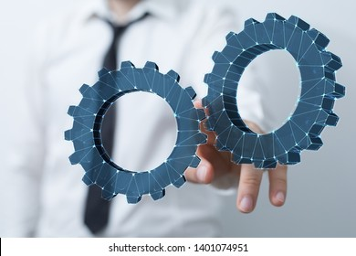 gear process connection in hand