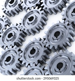 Gear wheels background.