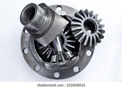 gearbox reducer part closeup