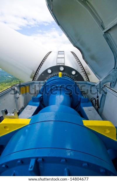 gearbox windy power station in machine - room arrangement