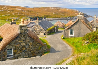 Gearrannan Blackhouse Village, Isle of Lewis, Scotland, UK
