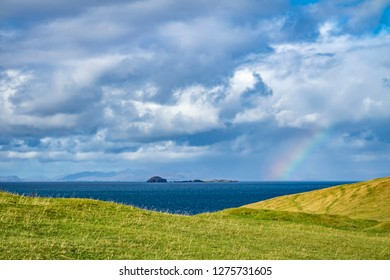 Gearren and fladaigh island in the little Minch between Skye and Lewis, Harris - Outer Hebrides , Scotland.