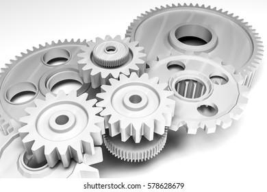 gears 3d rendering