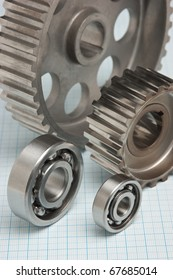 gears and bearings on graph paper