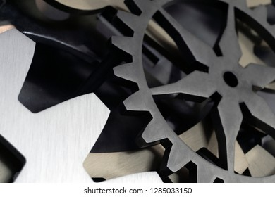Gears close up background